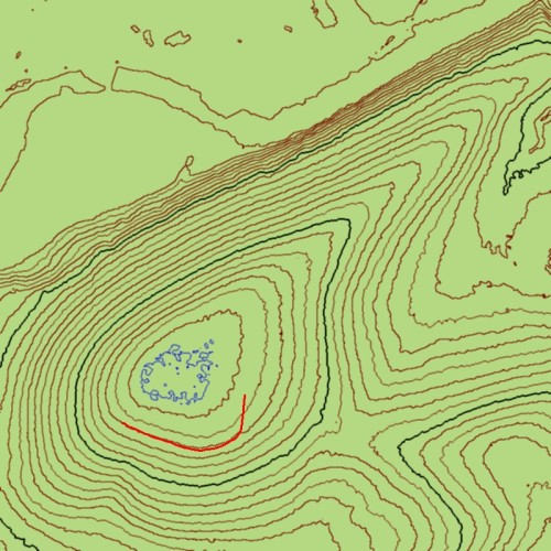 My Annotated Salisbury Hill Topo Map (from LiDAR data)