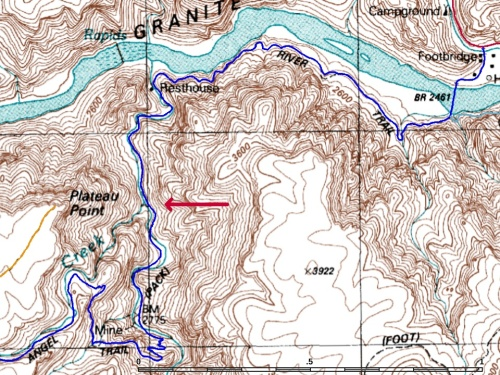 Bright Angel Trail Leaves Garden Creek