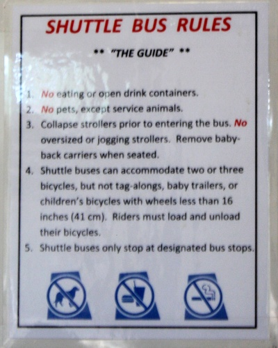 The Official Posted Bus Rules